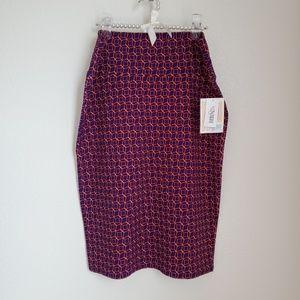 Lularoe • Purple and Orange Print Cassie Skirt